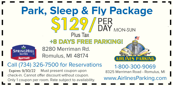 Detroit airport parking discount coupons